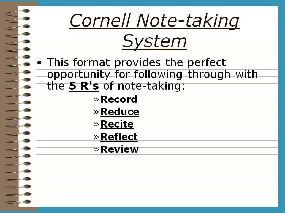 how to use cornell note-taking system