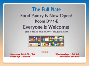 Full Plate Food Pantry is Now Open