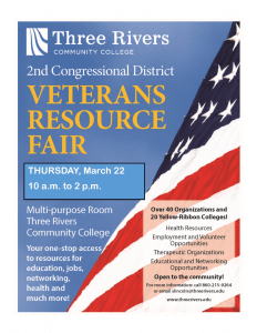 Veterans Resource Fair, March 22, 10 am to 2 pm