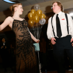Two students dancing at a formal ball
